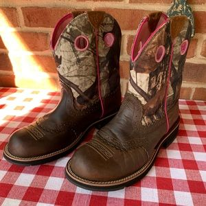 ARIAT Fat Baby Western Camo Boots, 9
